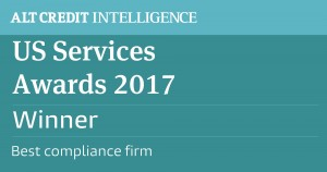 US service awards 2017 - Best compliance firm